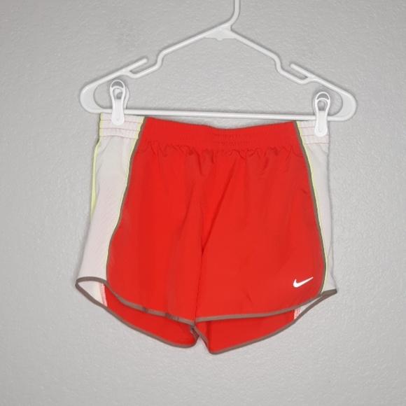 XS ~PICK~ Women/'s NIKE Tempo Black Green Tomato Red Running Shorts Dri Fit